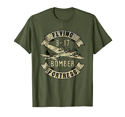 Vintage B-17 Bomber WW2 Plane Aviation Airplane Shirt Grunge