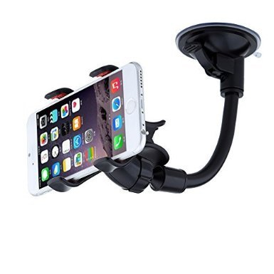 Freestep universal car mount for smartphone windshield long arm 360 degree rotation car mount cradle holder for samsung galaxy s6 s5 s4 htc one max iphone6 plus6 5s sony lg g3 g2