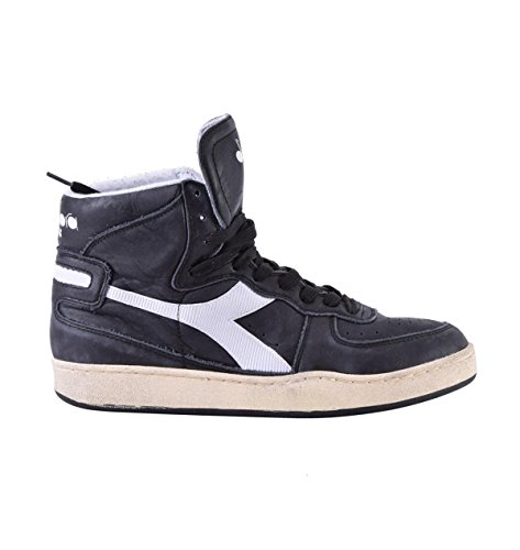Sneaker Diadora Heritage MI Basket 84 Used Nero-Bianco 158569 nero-bianco
