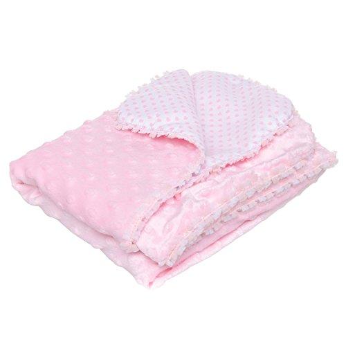 Cobija Bebé Caramelo Doble Vista Soft Rosa Baby