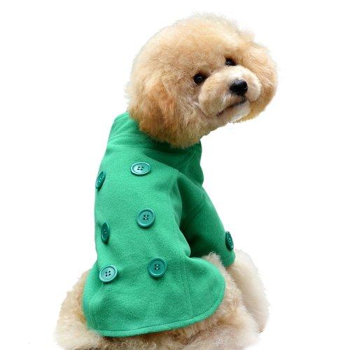 1-quatre-pattes-Juste-le-paon-queue-Manteau-pour-chien-taille-L-vert-pomme