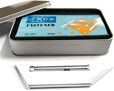 MIDORINL 종이 패스너 50 개입 수납 케이스 첨부 서류 및 문서에 대 한 / MIDORINL Paper Fasteners 50 pcs With Storage Case For Documents and Documents