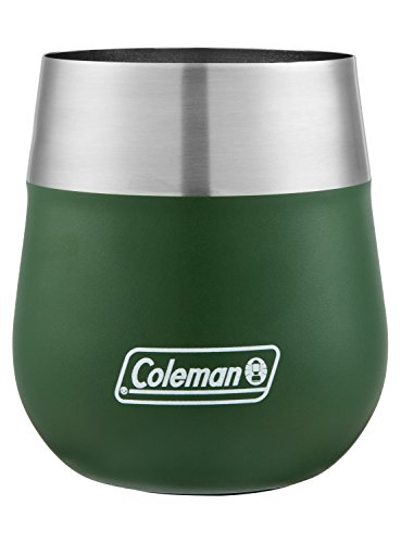 Coleman Claret Insulated Stainless Steel Wine Glass, Heritage Green, 13 oz.