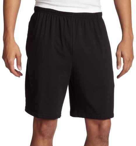 100% Cotton Basic Short - Soffe Men's Classic 100% Cotton Pocket Short Black Large