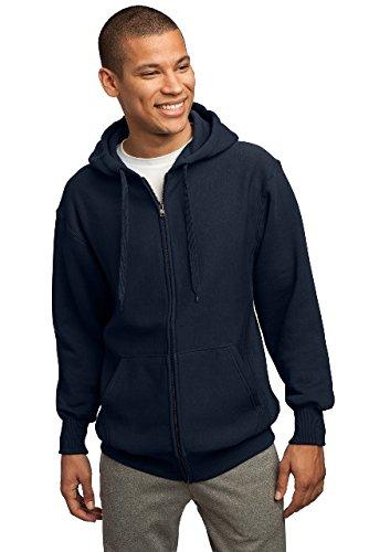 Sport-Tek Men's Super Heavyweight Full Zip Hooded Sweatshirt M True Navy from Sport-Tek