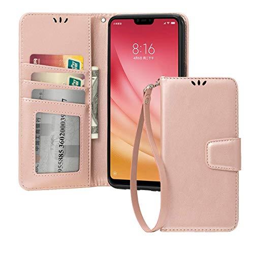 Shemax Case Silicone for Xiaomi mi8 Lite/Xiaomi Mi 8 Youth,Scratch Protection Natural Form Smartphone Cover for Xiaomi Mi 8X-Rose Gold
