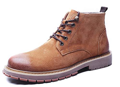 Toe Boots 2018 Up Stivaletti Pelle Utensili Brown New Martin In Round 44EU Caldi Lace Autunno Mens BYTSq5wS