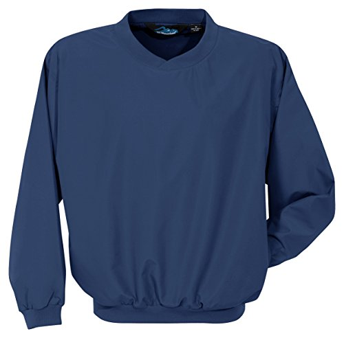 Tri-Mountain 2500 Microfiber Windshirt with Nylon Lining, Navy, (Lined Microfiber Pullover)