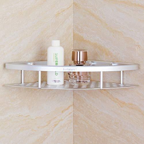 CUING Ecke Dusche Veranstalter Caddy Badezimmer Regal Lagerung Wand montiert for Toilette K/üche SUS 304 Edelstahl kein Bohren