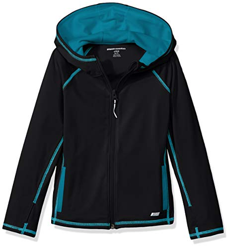 Amazon Essentials   Girls' Full-Zip Active Jacket, Black, M (8) ()