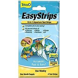 Tetra EasyStrips 6-in-1 Aquarium Test Strips, 4-Count