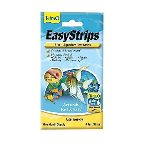 Tetra EasyStrips 6-in-1 Aquarium Test Strips, 4-Count