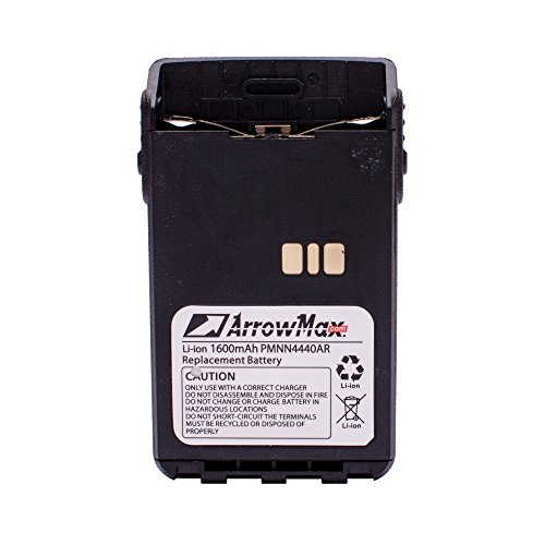 4 Pack Maxtop AMCL4440-1600-D PMNN4440AR 1600mAh Battery for Motorola MotoTrbo DP3441 by MAXTOP