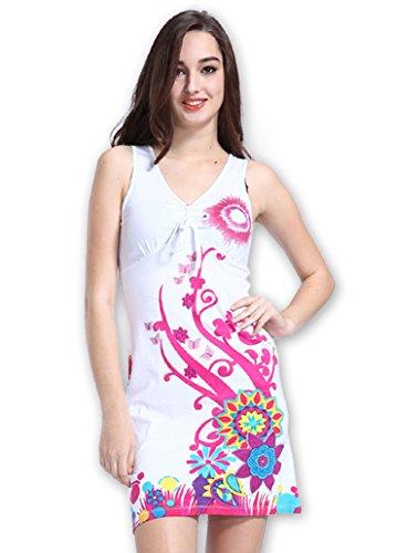 Coton Du Monde - Vestido - para mujer blanco