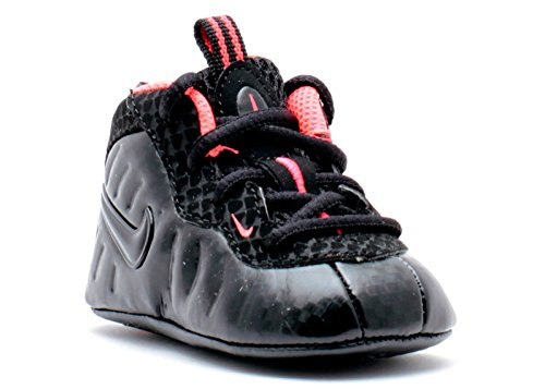 NIKE LIL POSITE PRO BLACK LASER ORANGE CRIB INFANT SOFT BOTTOM SHOES SIZE 1 [643145-001] (3)