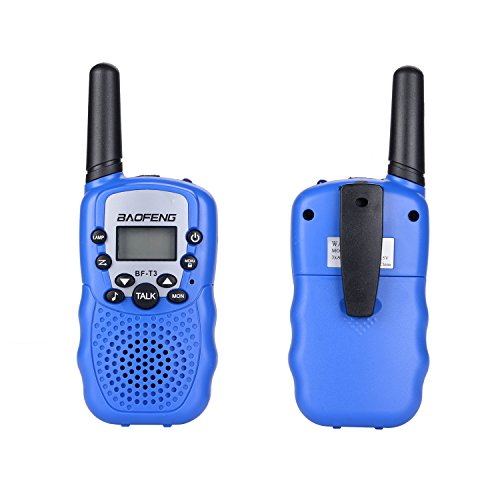 Baofeng T3 Kid Walkie Talkie 22 Channel FRS/GMRS UHF 462.550- 467.7125MHz T-3 Two Way Radio Transceiver Toy for Children & Youth (1 Pair) (Blue)