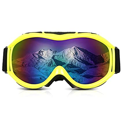 0dbaba1e3004b Image Unavailable. Image not available for. Color  ForShop UV Protection  Skiing Snowboard Goggles Men Women Double Layers Ski Goggles Anti-Fog Big