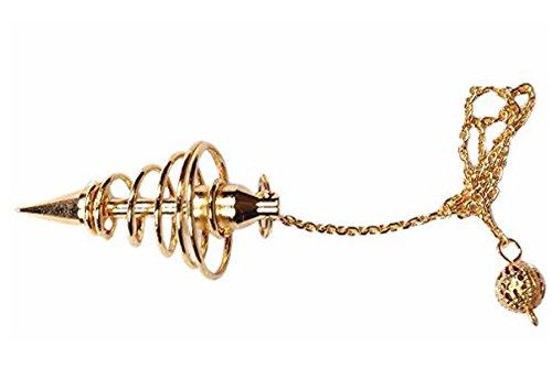 - WholesaleGemShop Copper Metal Spiral Pendulum - Small Coil Pendulum Bronze