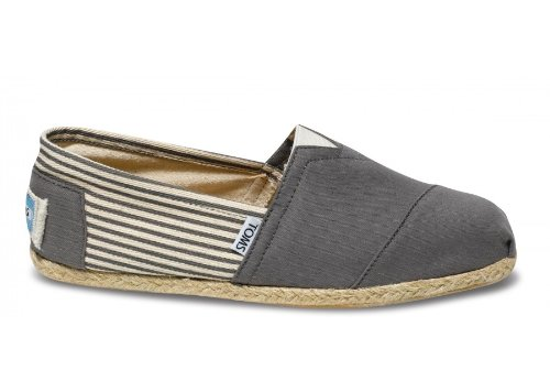 TOMS Mens Classic Rope Slip-On University Ash OaQxqHo