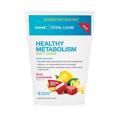 GNC Total Lean Healthy Metabolism Soft Chews - Pink Lemonade 60 Sugar-Free