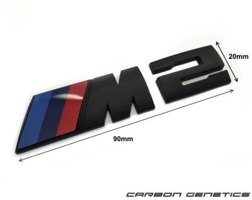 Carbon Genetics noir mat tronc Capot de coffre arri/ère dun insigne distinctif Stick sur pour M2 F87