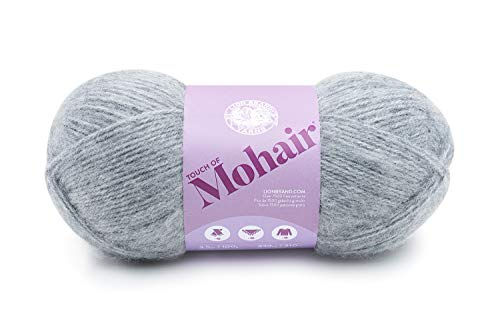 Lion Brand Yarn 677-150 Touch of Mohair Yarn, Oxford Grey ()