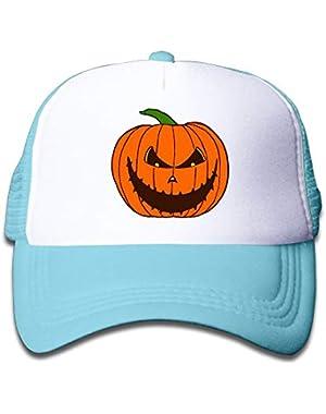 Pumpkin Halloween2 On Kids Trucker Hat, Youth Toddler Mesh Hats Baseball Cap