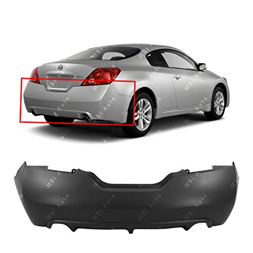 2 Altima Door - MBI AUTO - Primered, Rear Bumper Cover for 2008-2013 Nissan Altima Coupe 08-13, NI1100254