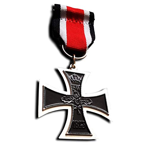 - German Iron Cross 2nd Class 1870 with ribbon - Military Medal for Bravery - Imperial Prussian Medal/Repro