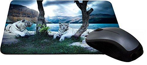 - Rikki Knight White Tigers Lightning Series Gaming Mouse Pad
