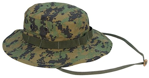 Casual Hats Mens Clothing - Rothco Boonie Hat Woodland Digital Camo - (7 1/2) Inch