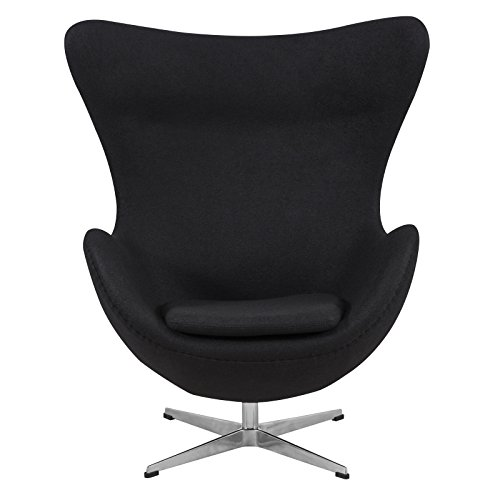LeisureMod Arne Jacobsen Style Egg Chair in Black Wool Review