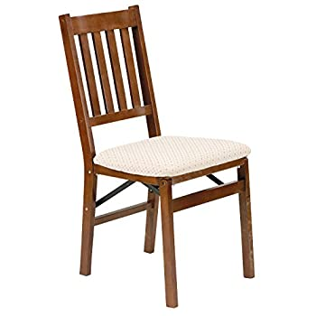 Stakmore Arts and Craft Folding Chair Finish, Set of 2, Fruitwood
