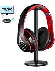 Mpow Casque TV sans Fil, Casque Bluetooth 059 avec Support D'écouteur Bluetooth, Casque Stéréo sans Fil Pliable pour La Télévision, Récepteur Branchez & Jouez pour Téléphone Récepteur TV PC