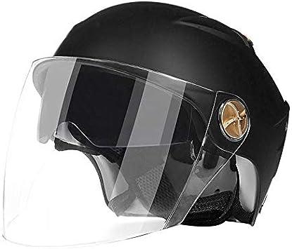 Casco De Motocross Negro-4XL,XXL Casco Universal De 4 Estaciones Hombres Y Mujeres Adultos Casco De Bicicleta De Cara Completa