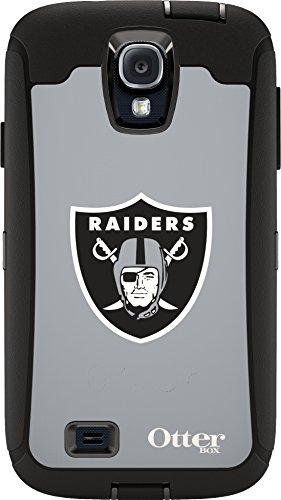 OtterBox 77-50079 'Defender NFL Series' Protective Case for Samsung Galaxy S4 Phone - Raiders (Retail Packaging from OtterBox)