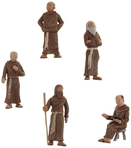 Woodland Scenics SP4453 1.5-Inch Scene Setters Figurine, Friars/Monks, 5/Pack