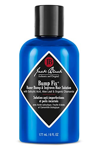 JACK BLACK Bump Fix Razor Bump & Ingrown Hair Solution PureScience Formula, Helps Reduce Razor Bumps, with Salicylic Acid, Aloe Leaf and Organic Chamomile, 6 oz. Bottle (Best Solution For Razor Bumps)