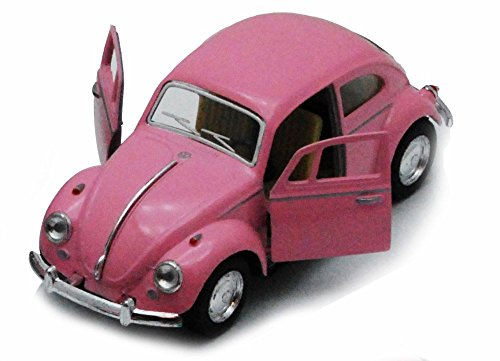 1967-Volkswagen-Classical-Beetle-Pink-Kinsmart-5375PK-132-scale-Diecast-Model-Toy-Car