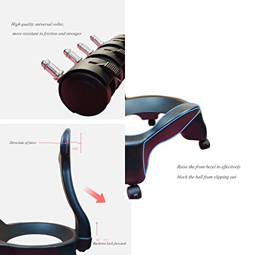 Sports & Fitness Yoga Ball Chair Office Yoga Chair Fitness Movable Massage Chair Home Seat Explosion-Proof Thickened Fixed Ball Stool (Load Bearing: 300kg) Exercise Ball Chairs by PHSP (Image #5)
