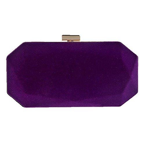Da Borsa Castagna Sera Purple Pelle Scamosciata D'acqua Sera Da Signora Clutch q181tgfw