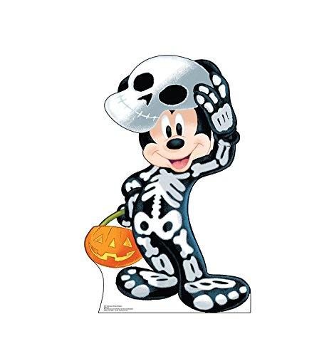 Advanced Graphics Halloween Mickey Skeleton Life Size Cardboard