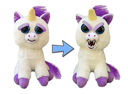 Feisty Pets Glenda Glitterpoop the Unicorn that Turns Feisty with a Squeeze]()