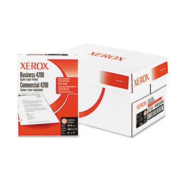 Xerox Business 4200 Copy Paper, 92 Brightness, 3-Hole Punched, 20lb, Ltr, WE, 5000/Ctn