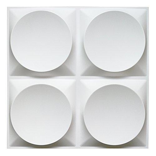Art3d White Wall Panels Moden 3D Wall Decor, Moon Surface Design, 12 Tiles 32 SF
