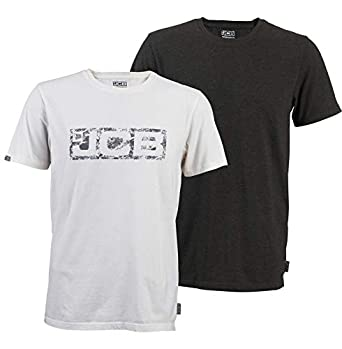 JCB Workwear - Camiseta de Trabajo, 2 Unidades, 60% algodón, 40% poliéster/100% algodón, Talla XL, Color Blanco y Gris: Amazon.es: Industria, empresas y ciencia
