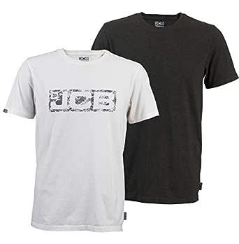 JCB Workwear - Camiseta de Manga Corta, 60% algodón, 40% poliéster, 100% algodón, Talla XL, Color Blanco y Gris: Amazon.es: Industria, empresas y ciencia