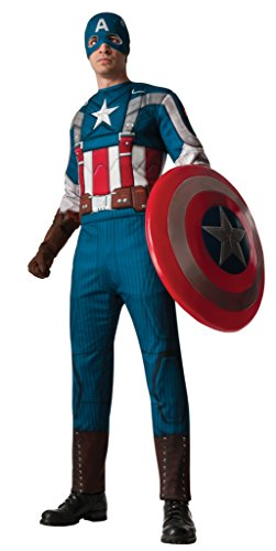 [Rubie's Men's Marvel Universe Captain America Soldier,Multicolor,X-Large Costume] (Captain America First Avenger Halloween Costume)