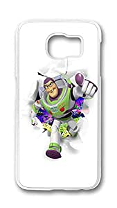 Samsung Galaxy S6 Case,Logo Series Customize Ultra Slim Entertainment Toystory Hard Plastic PC Clear Case Bumper Cover for S6