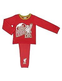 Childs Football Liverpool FC 'Mighty Reds' Boys Pyjama Set, 100% Cotton, Kids Lo